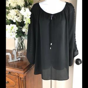 Tops - Woman's XL Blouse Size XL Black